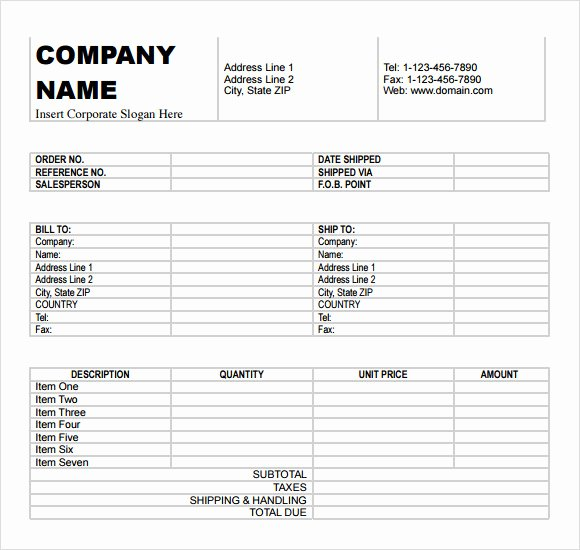 Billing Invoice Template Word Elegant Free 10 Billing Invoice Templates In Free Samples