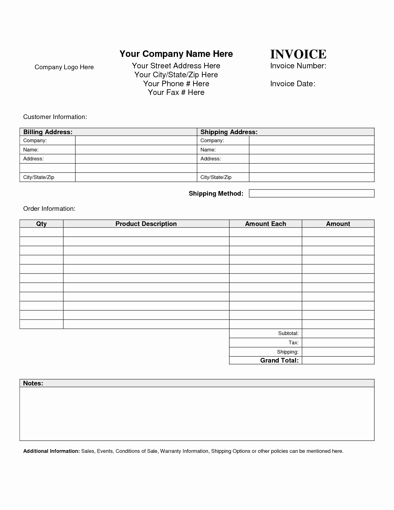 Billing Invoice Template Word Fresh Billing Invoice Template Word