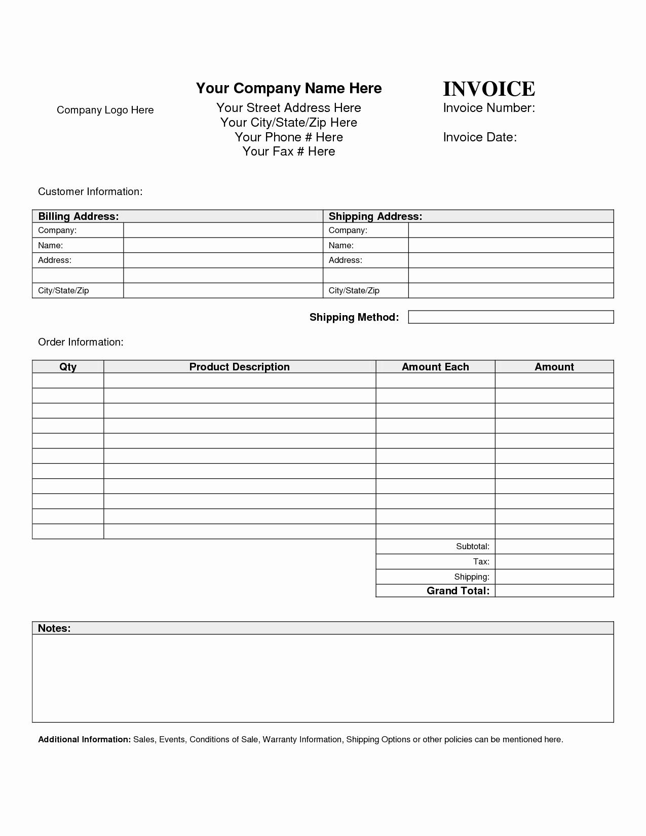 Billing Invoice Template Word Fresh Billing Invoice Template Word