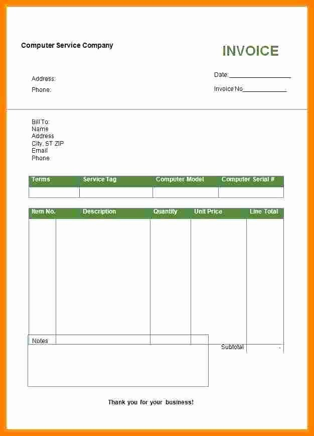Billing Invoice Template Word Inspirational 6 Bill format In Word Doc