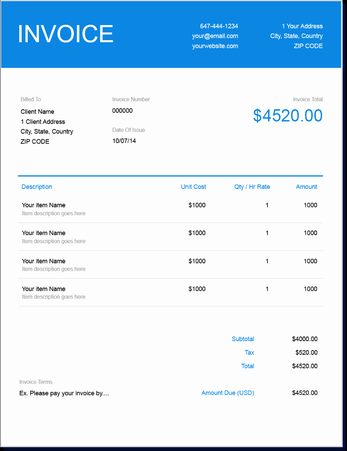 Billing Invoice Template Word Inspirational Invoice Template
