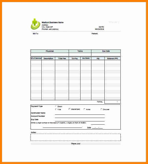 Billing Invoice Template Word New 6 Medical Bill format In Word