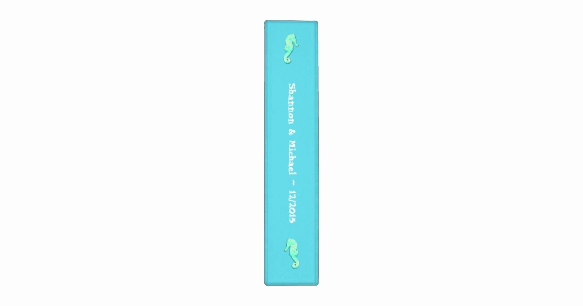 Binder Spine Template 2 Inch Awesome Aqua Seahorse 2 Inch Template Binder