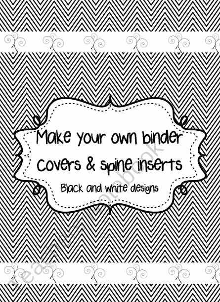 Binder Spine Template 2 Inch Best Of Fully Editable Black and White Binder Covers with Spine
