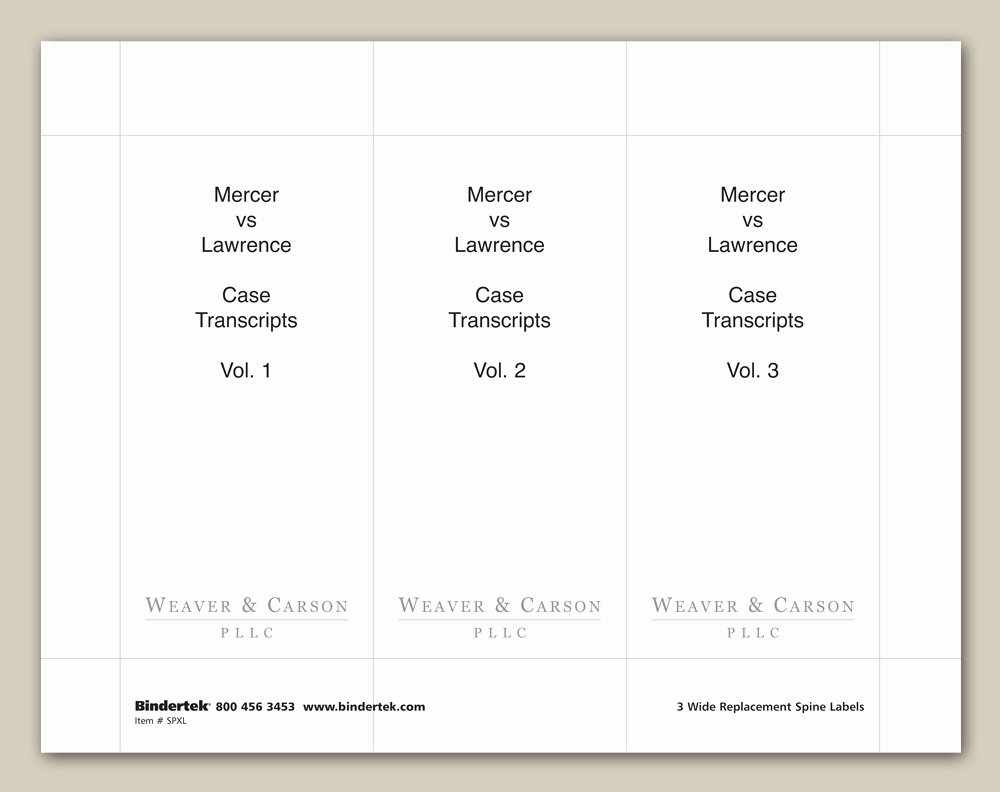 """Binder Spine Template 2 Inch Fresh Insertable Spine Labels for 4"""" Wide Binders"""