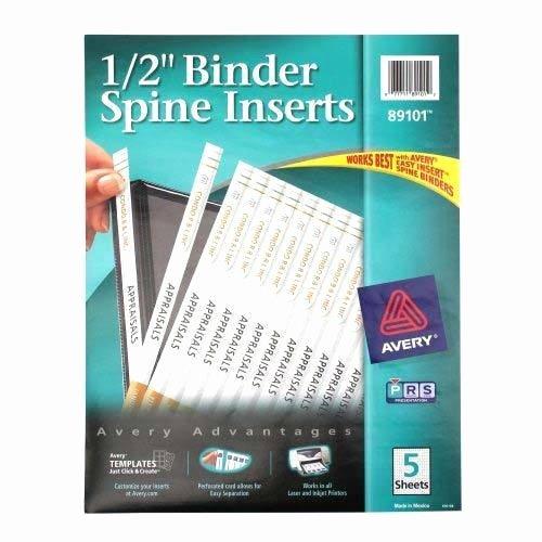 Binder Spine Template 2 Inch New Avery Binder Templates Spine 1 Inch