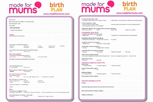 Birth Plan Template Pdf Best Of Writing A Birth Plan