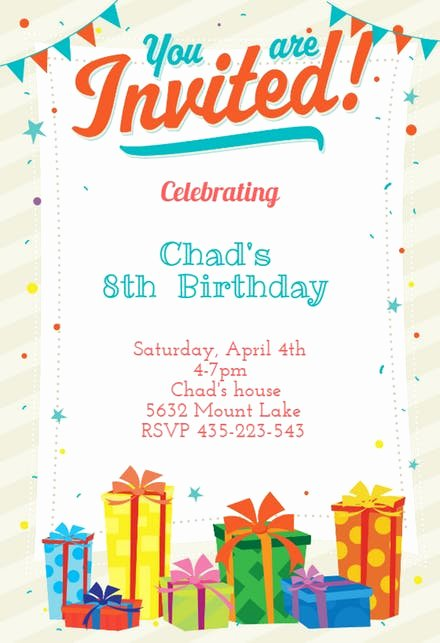 Birthday Invitation Template Word Awesome Birthday Invitation Templates Free