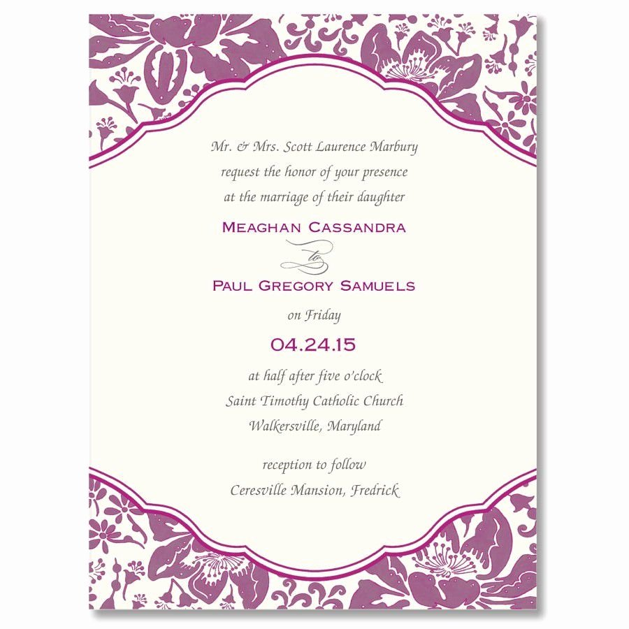 Birthday Invitation Template Word Beautiful Betrothal Invitation Sample