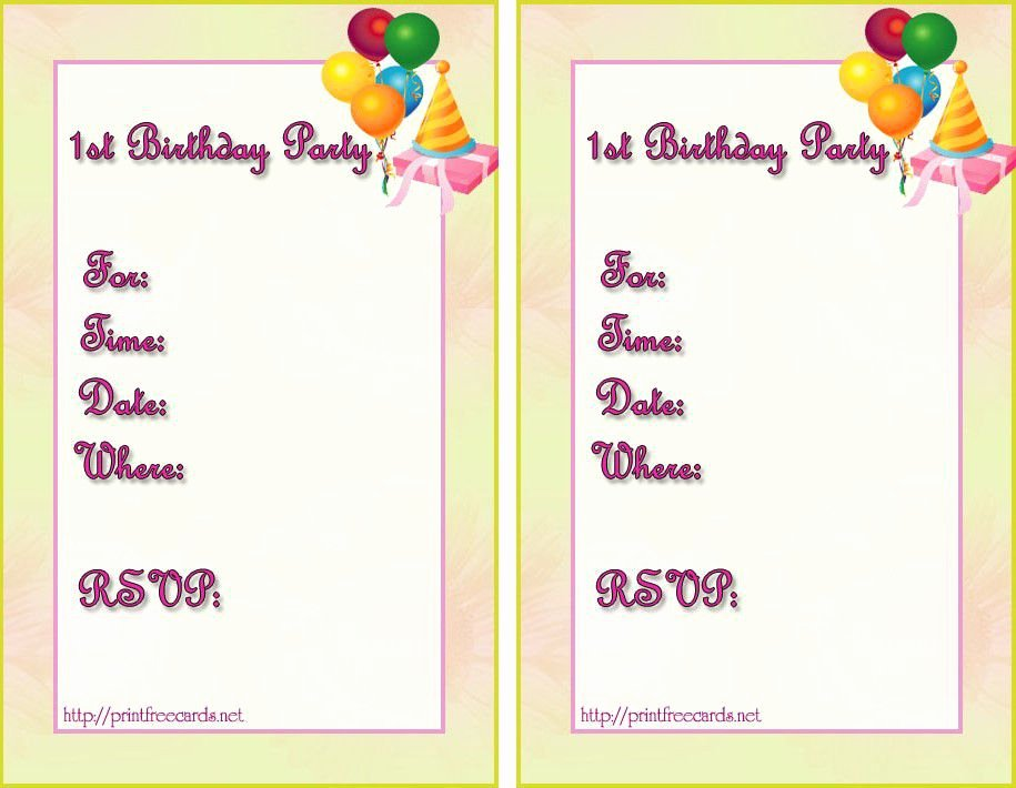 Birthday Invitation Template Word Elegant Birthday Invitation Templates Birthday Invitation