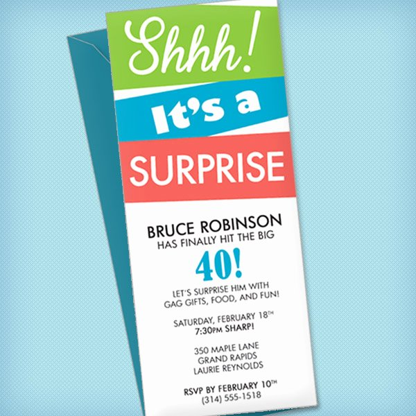 Birthday Invitation Template Word Elegant Surprise Party Invitation Template