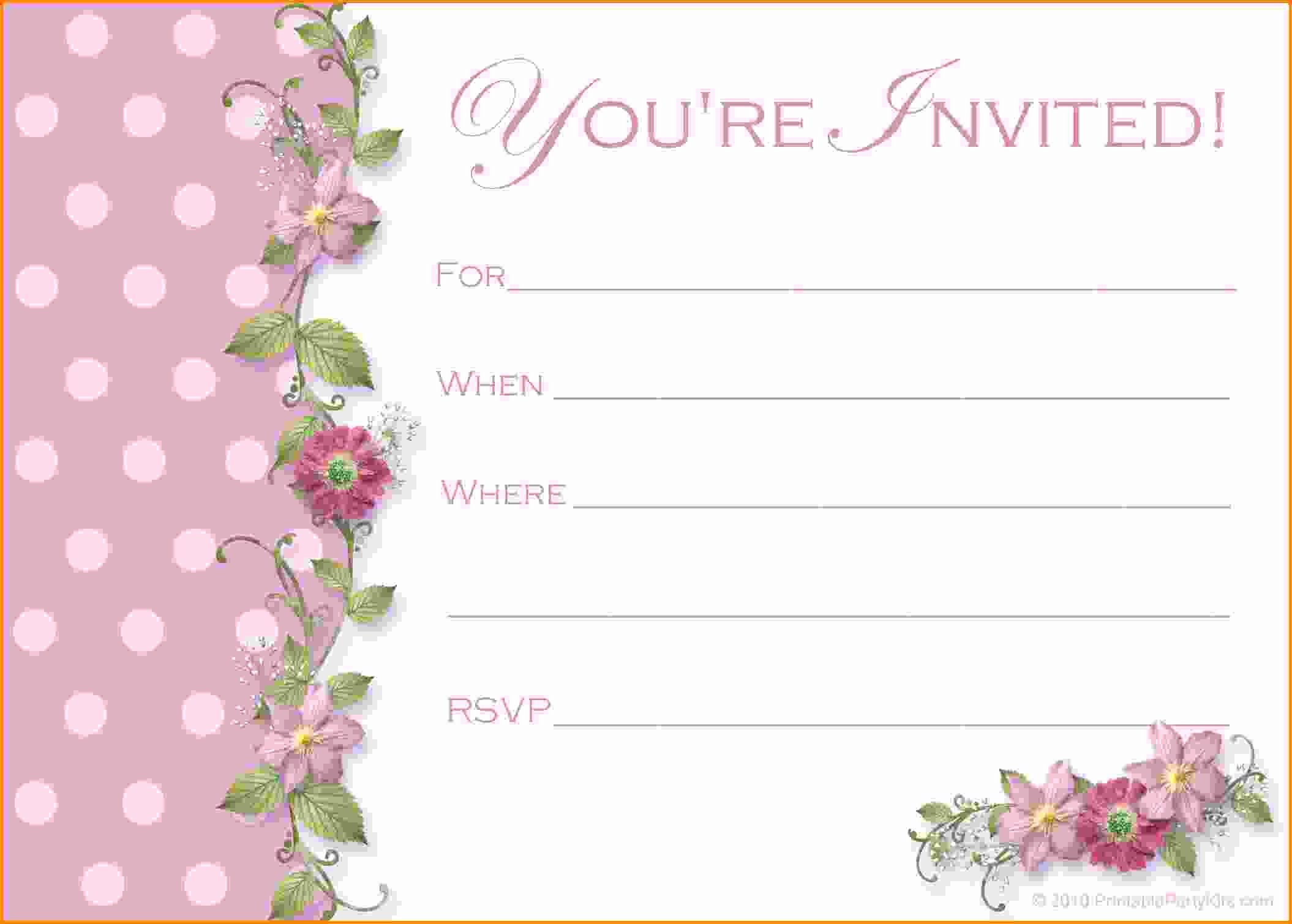 Birthday Invitation Template Word Lovely Free Party Invitation Templates Word