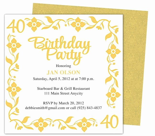 Birthday Invitation Template Word Lovely Invitation Template Word