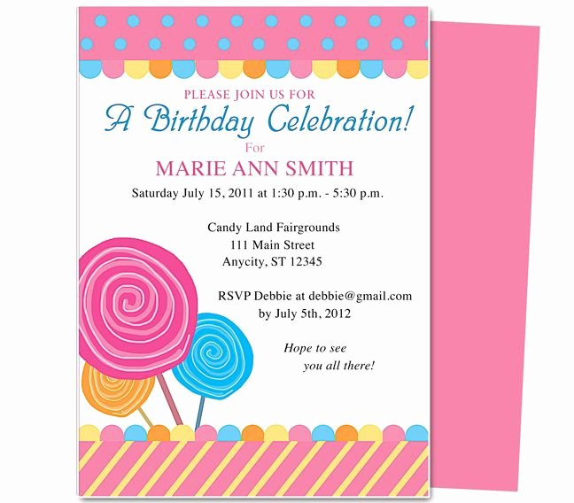 Birthday Invitation Template Word Lovely Pin by Paulene Carla On Party Invitations