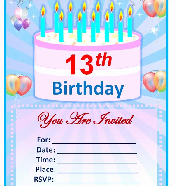 Birthday Invitation Template Word New Free Birthday Invitation Templates for Word