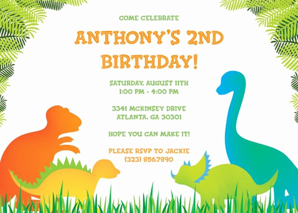 Birthday Invitation Template Word Unique 17 Dinosaur Birthday Invitations How to Sample Templates