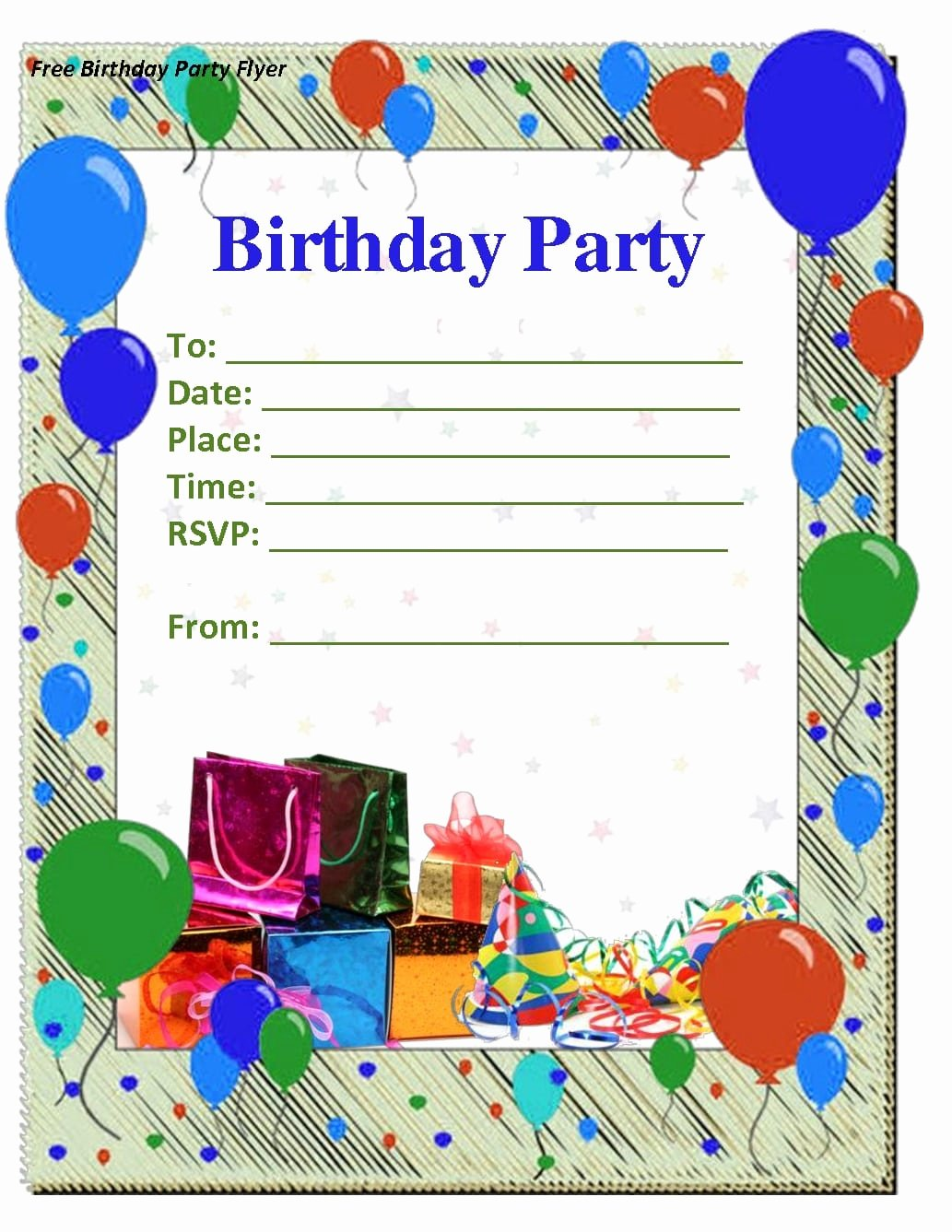 Birthday Invitation Template Word Unique Birthday Party Invitation Templates Free Download