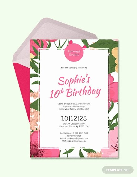 Birthday Invitation Templates Word Beautiful 49 Birthday Invitation Templates Psd Ai Word