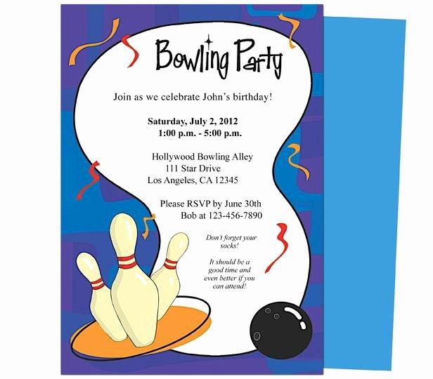 Birthday Invitation Templates Word Beautiful It S A Bowling Birthday Invitations Template Printable