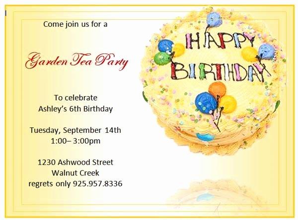Birthday Invitation Templates Word Best Of Birthday Invitation Templates Microsoft Word Templates