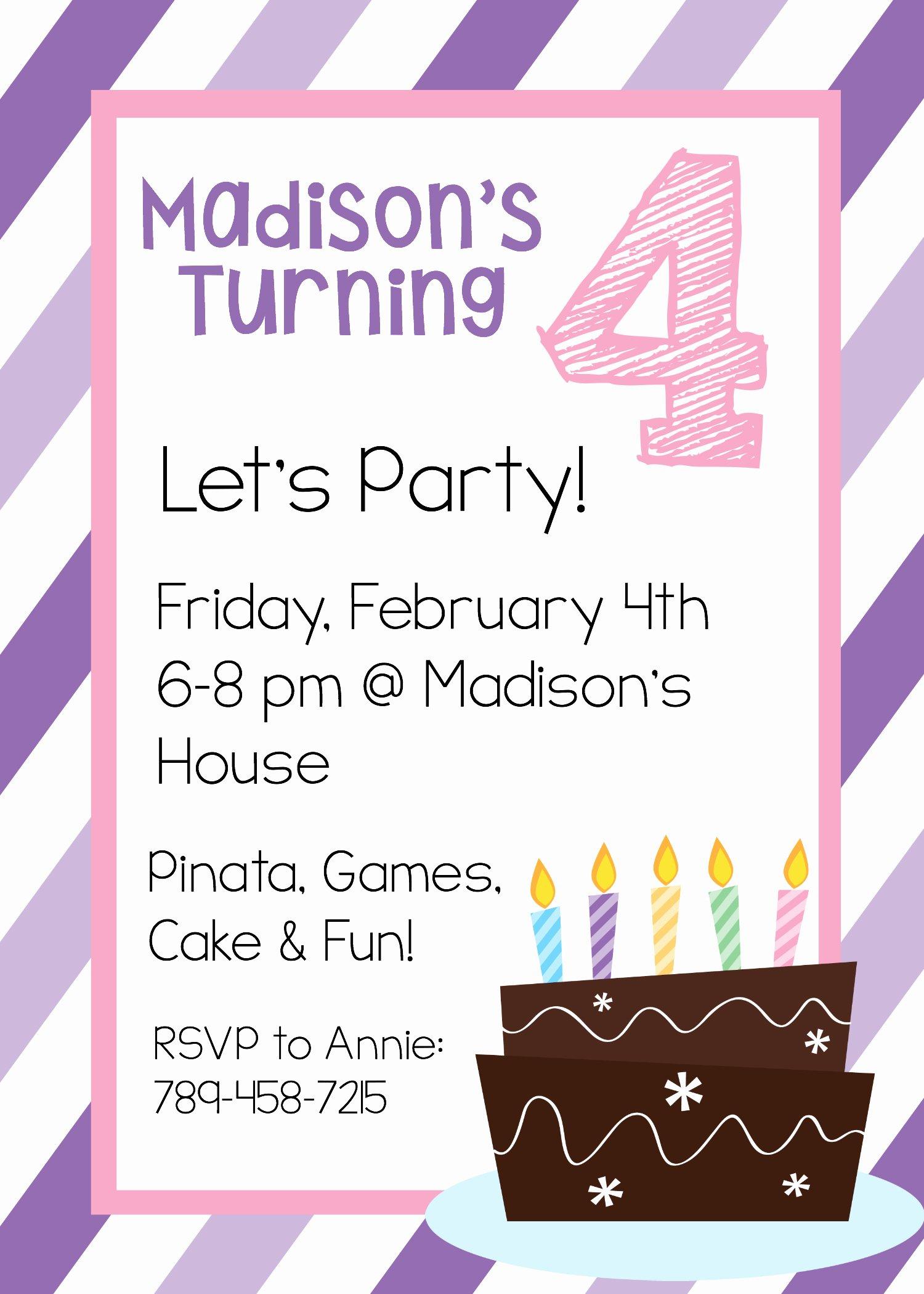 Birthday Invitation Templates Word Best Of Free Printable Birthday Invitation Templates