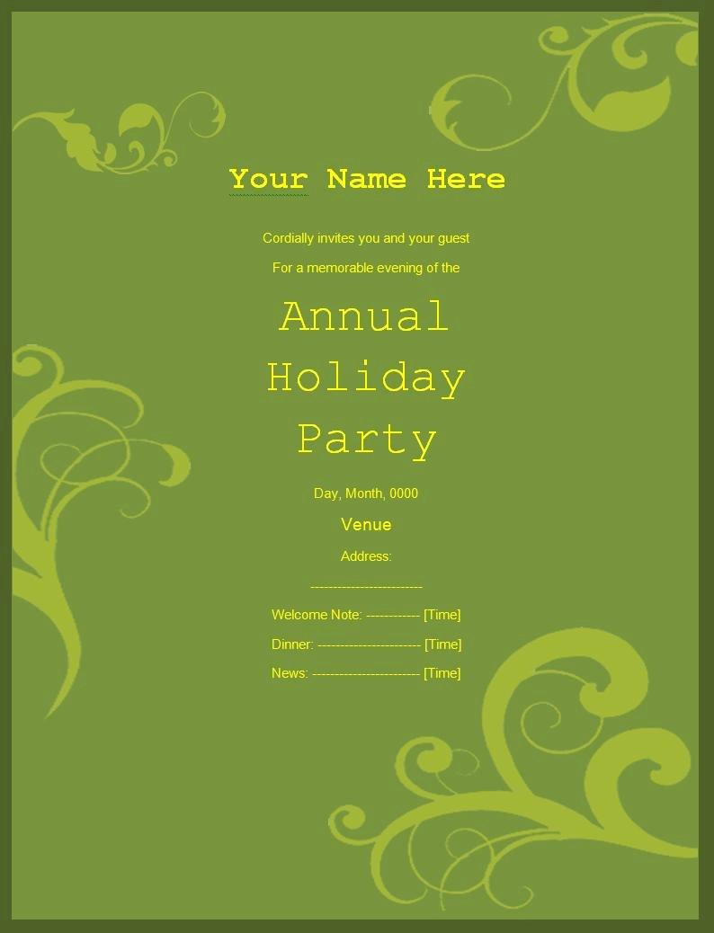 Birthday Invitation Templates Word Elegant Party Invitation Templates