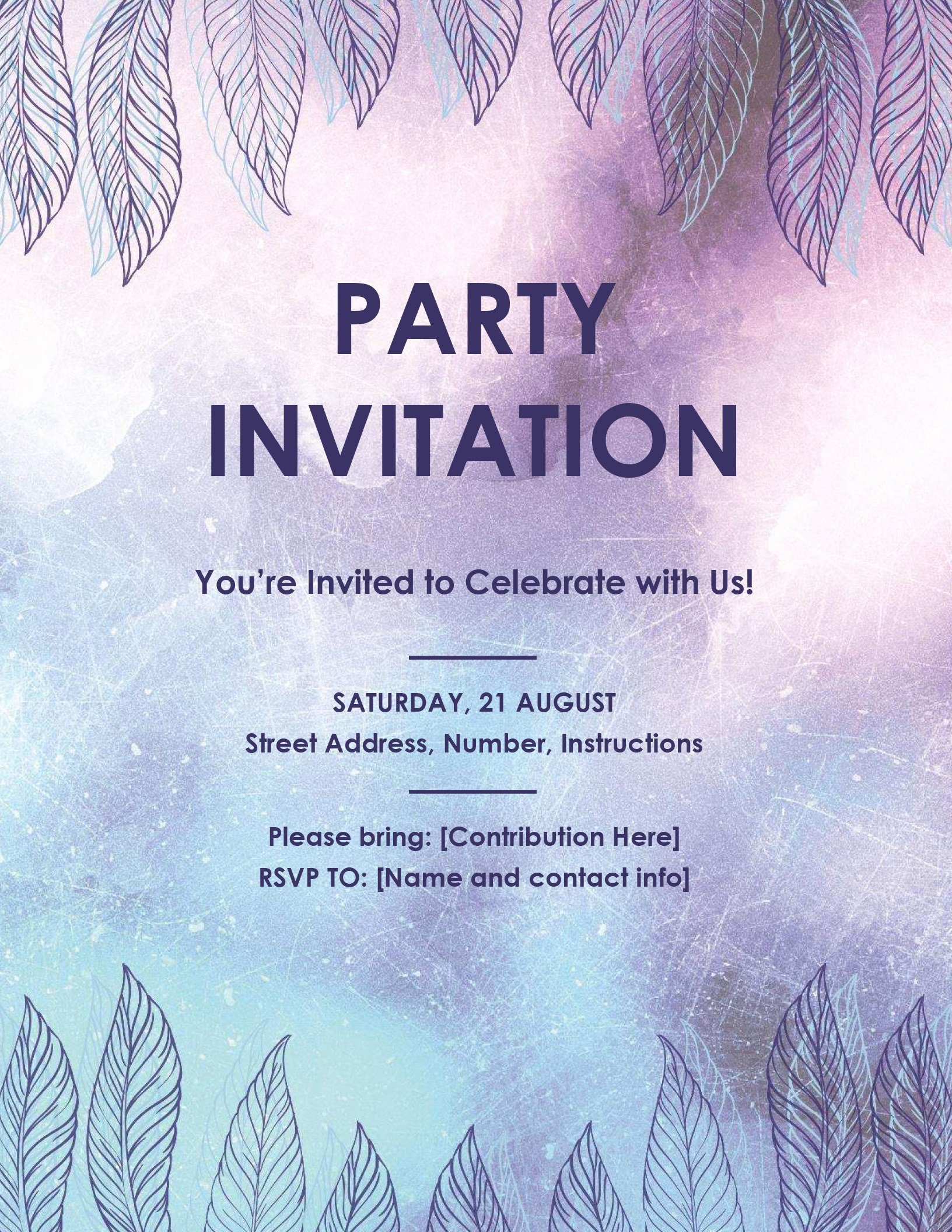 Birthday Invitation Templates Word Lovely Invitation Templates