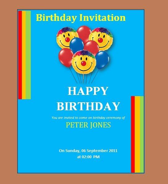 Birthday Invitation Templates Word Luxury 10 Free Birthday Invitation Templates