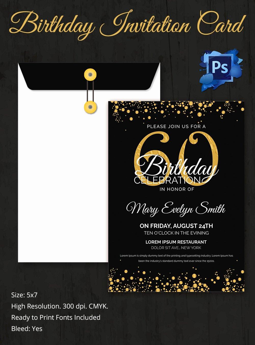 Birthday Invitation Templates Word Unique Birthday Invitation Template 32 Free Word Pdf Psd Ai