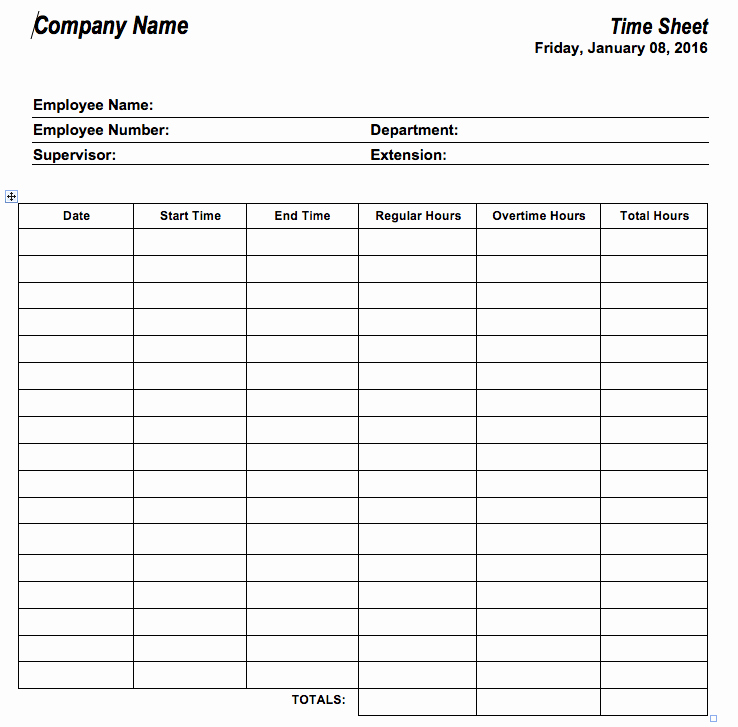 Biweekly Timesheet Template Free Awesome 6 Free Timesheet Templates for Tracking Employee Hours