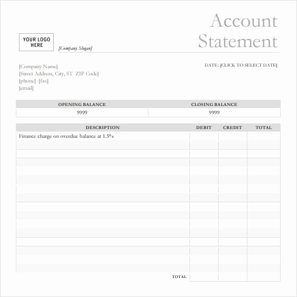 Blank Bank Statement Template Best Of 7 Bank Statement Templates Word Excel Pdf formats