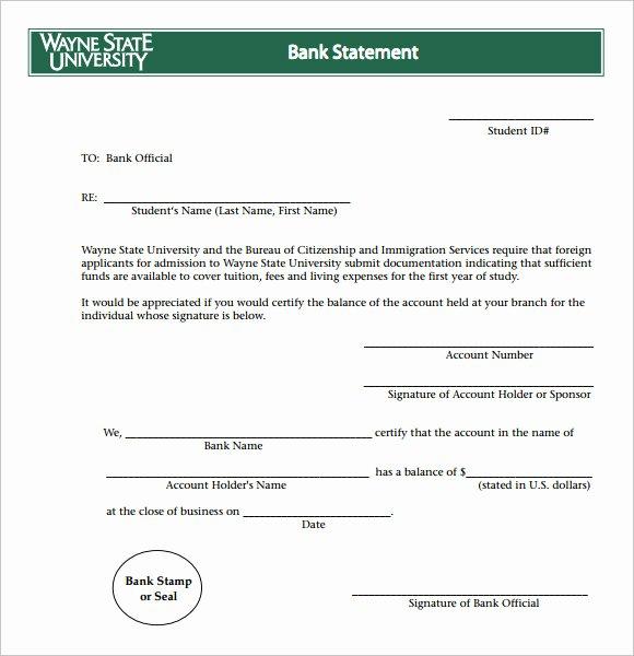 Blank Bank Statement Template Inspirational Sample Bank Statement