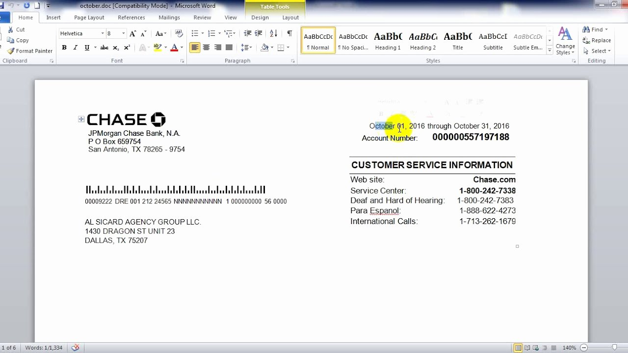 Blank Bank Statement Template Luxury Chase Bank Statement In Word Psd File