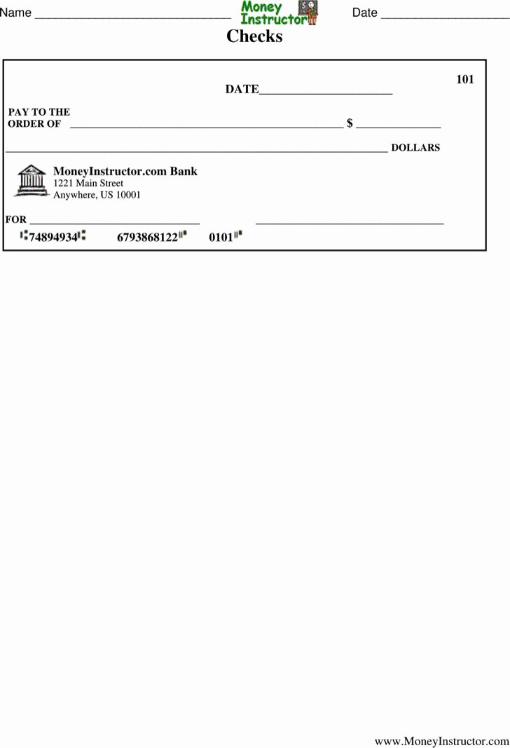 Blank Check Template Pdf Luxury 27 Blank Check Template Free Download