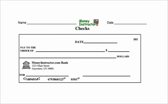 Blank Check Template Pdf New Giant Check Template Pdf