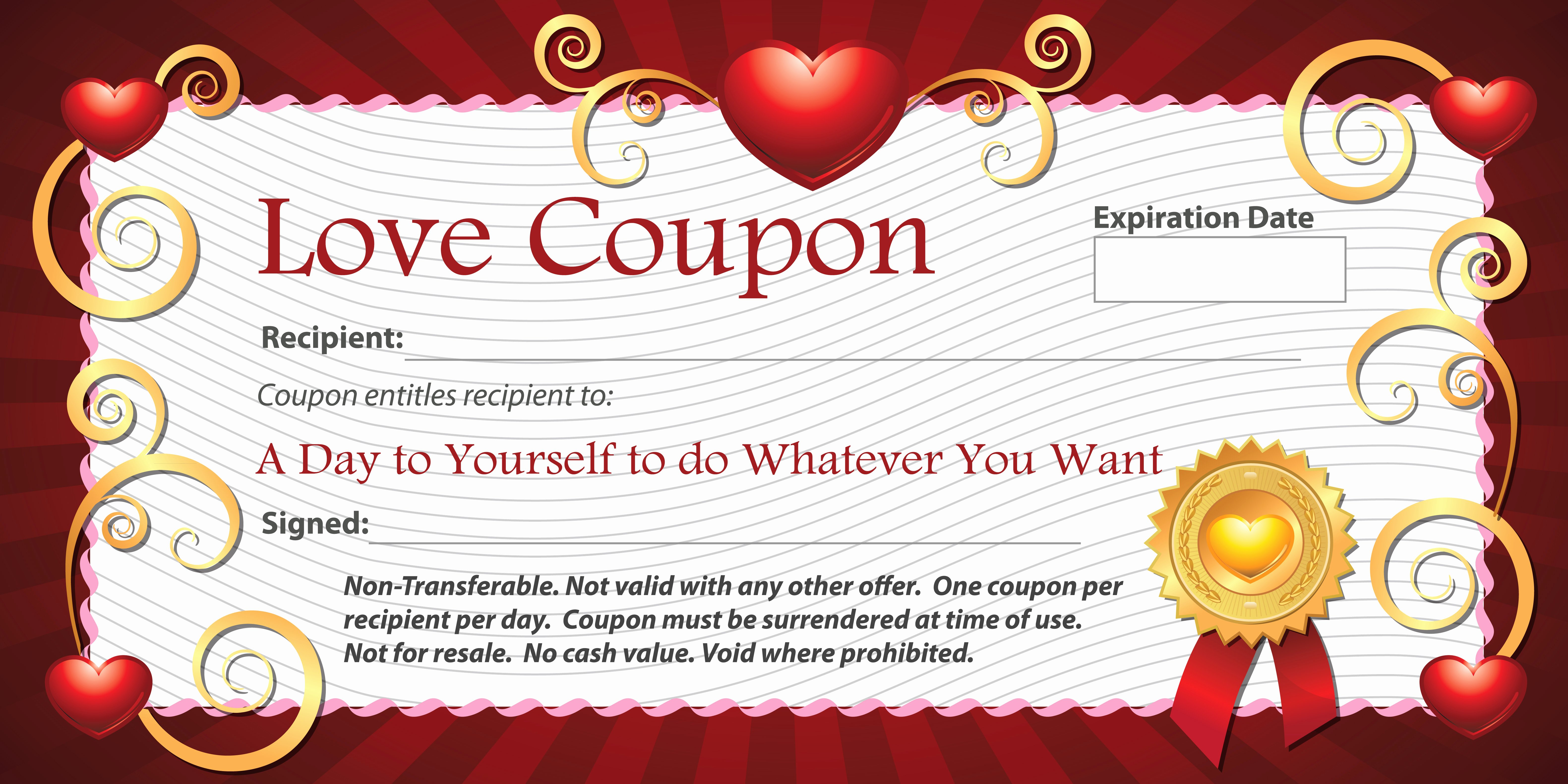 Blank Coupon Template Free Fresh 10 Personalized Gift Ideas for someone Special Collections