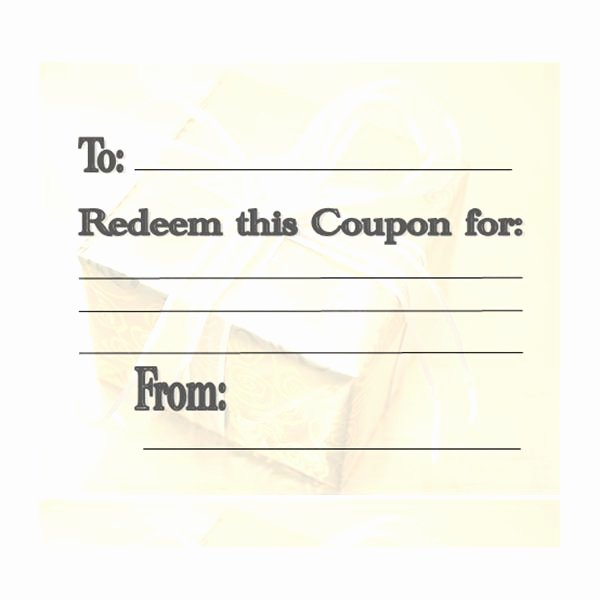 Blank Coupon Template Free Inspirational Make Your Own Customizable Coupon Book Free Printables