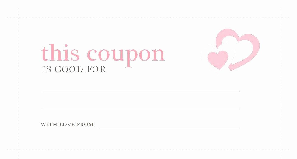 Blank Coupon Template Free Lovely Coupon Template