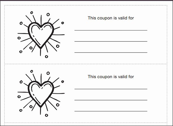 Blank Coupon Template Free Luxury Coupon Template Pdf