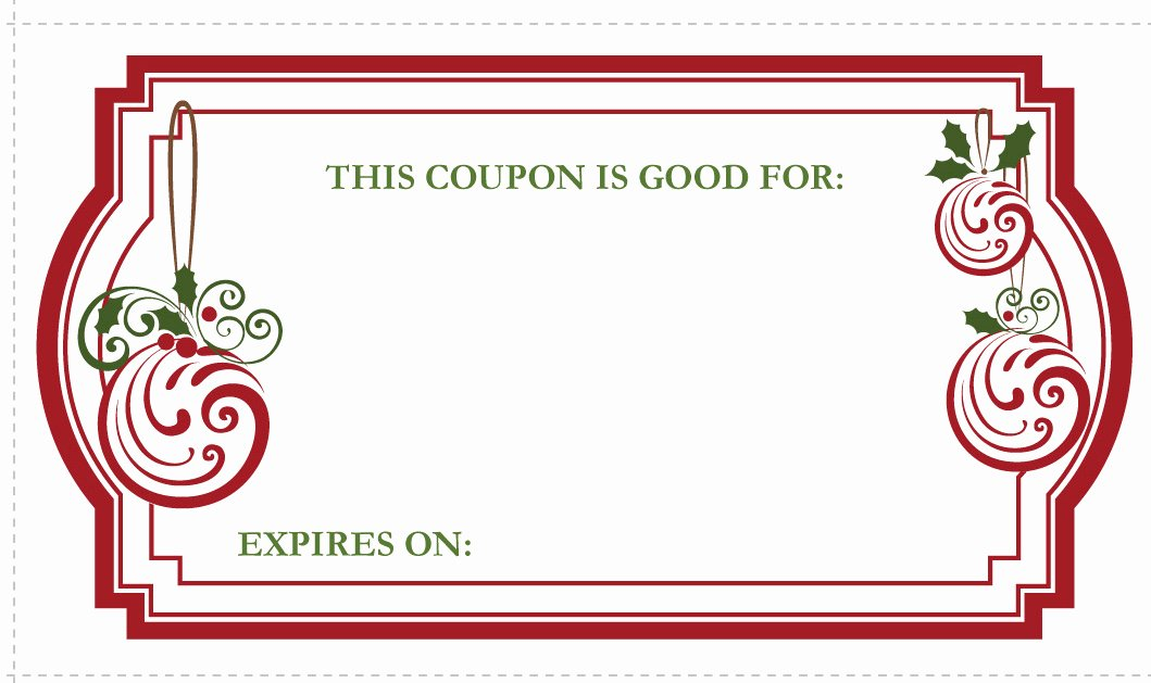 Blank Coupon Template Free New Christmas Gift Coupons Printable Life with Lovebugs