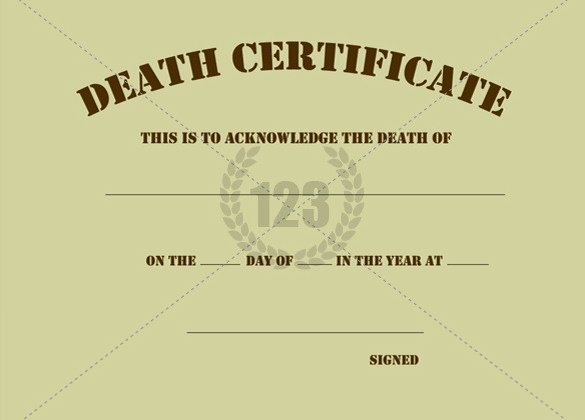 Blank Death Certificate Template Beautiful Procedure to Obtain Death Certificate In Delhi दिल्ली
