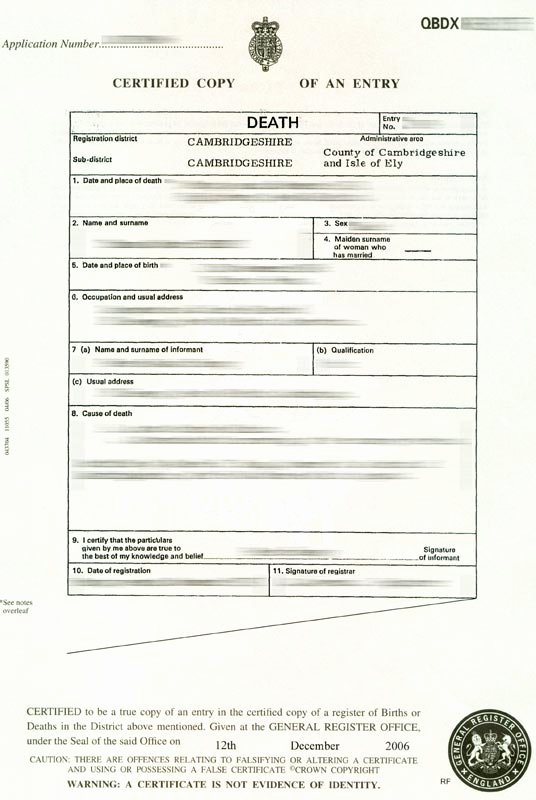 Blank Death Certificate Template Fresh Blank Death Certificate Uk