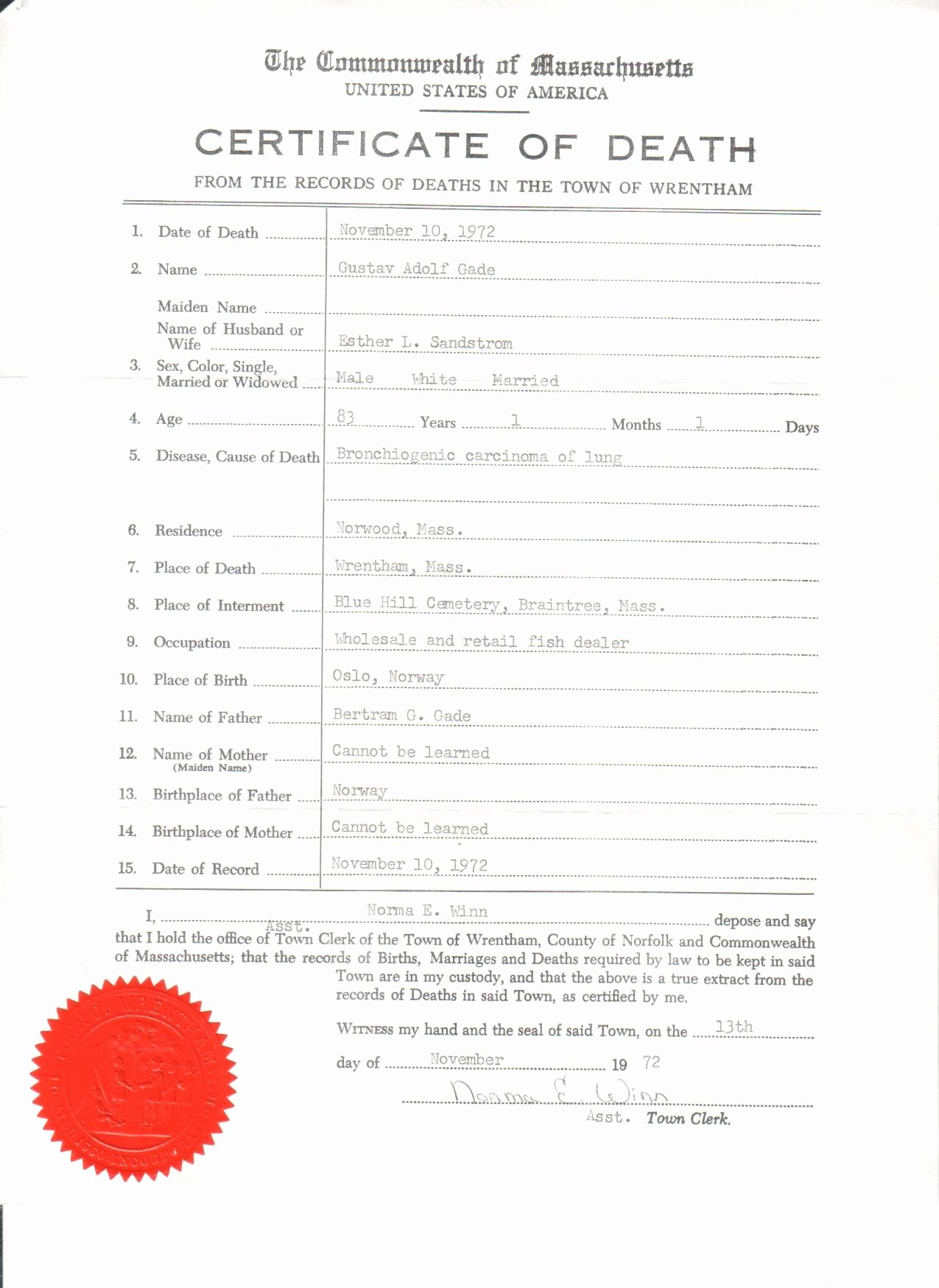 Blank Death Certificate Template Lovely Wood Gade Documents – Relatively Speaking