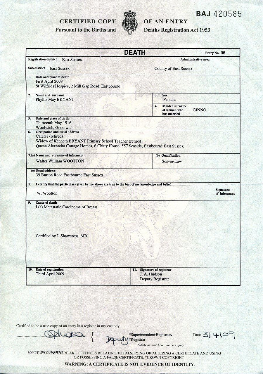 Blank Death Certificate Template New Death Certificate Uk