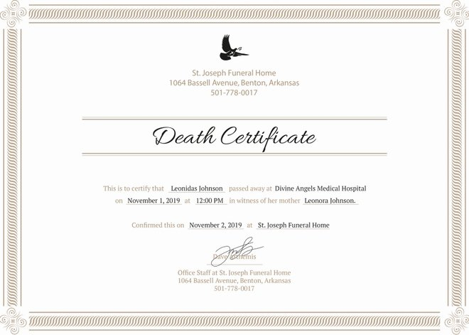 Blank Death Certificate Template Unique 8 Death Certificate Templates Psd Ai Illustrator Word