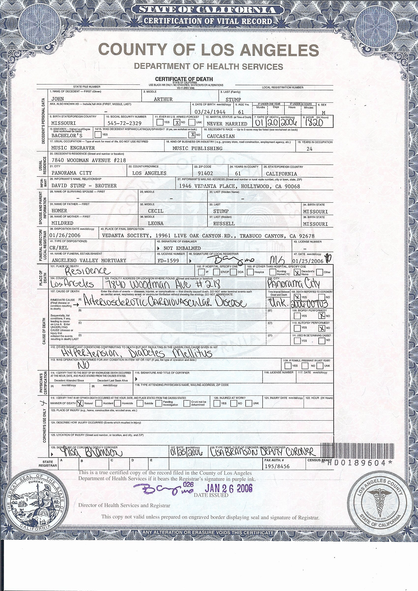 Blank Death Certificate Template Unique Death Waltz Day