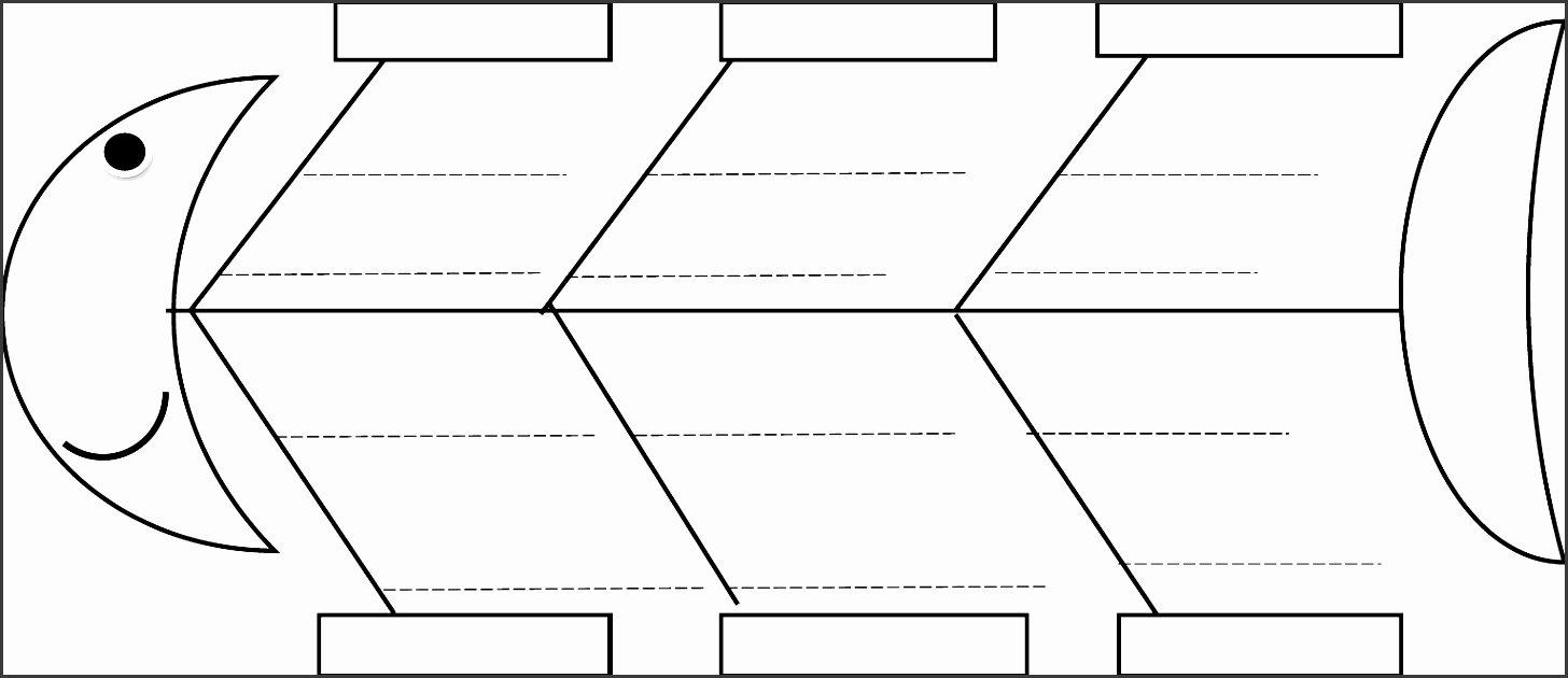 Blank Fishbone Diagram Template New 5 Line Fishbone Diagram Maker Sampletemplatess
