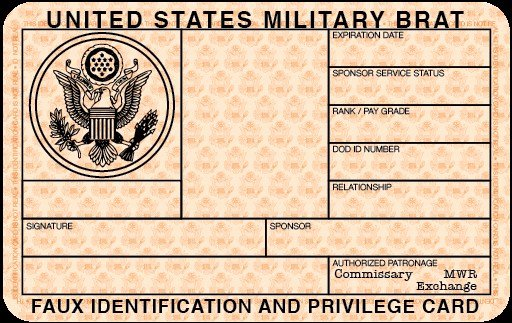 Blank Id Card Template Awesome Free Blank Military Id Card Template