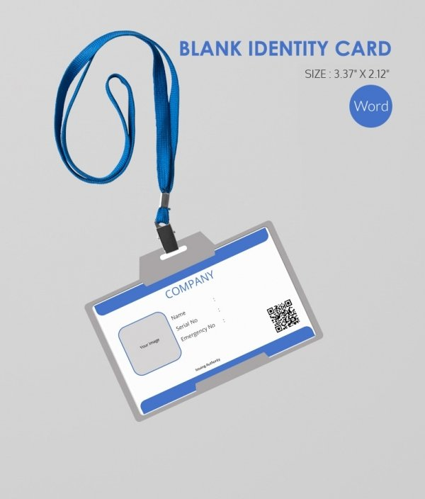 Blank Id Card Template Best Of 30 Blank Id Card Templates Free Word Psd Eps formats
