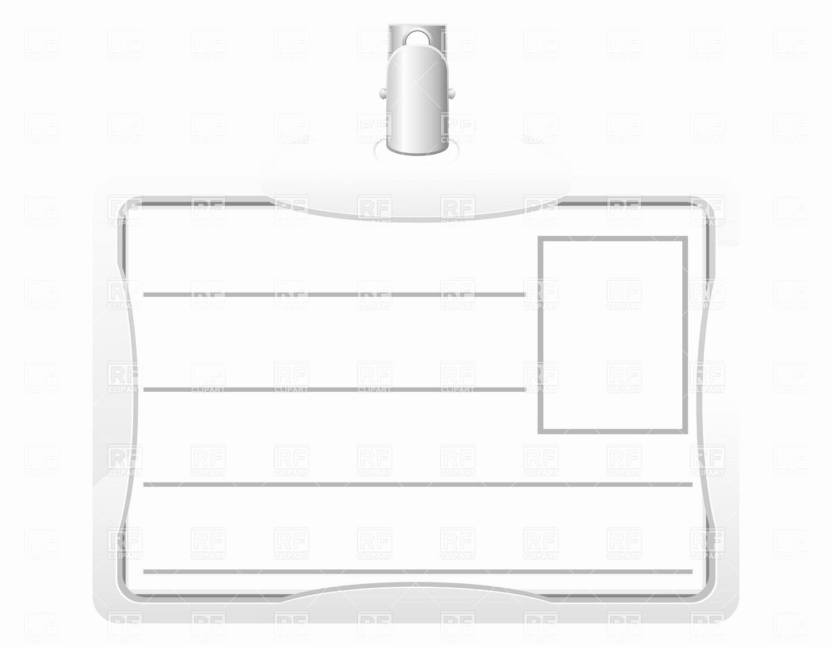 Blank Id Card Template Elegant Identification Card Name Tag Blank Template